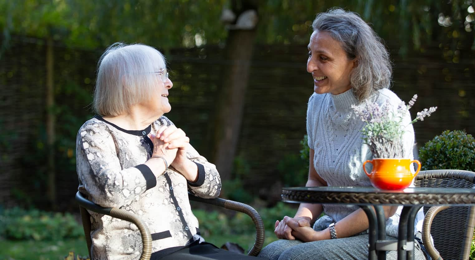 Live-in Care client and carer