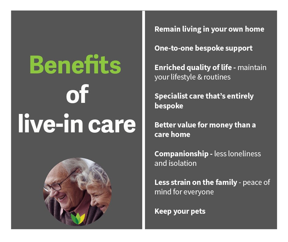 benefits of live-in care