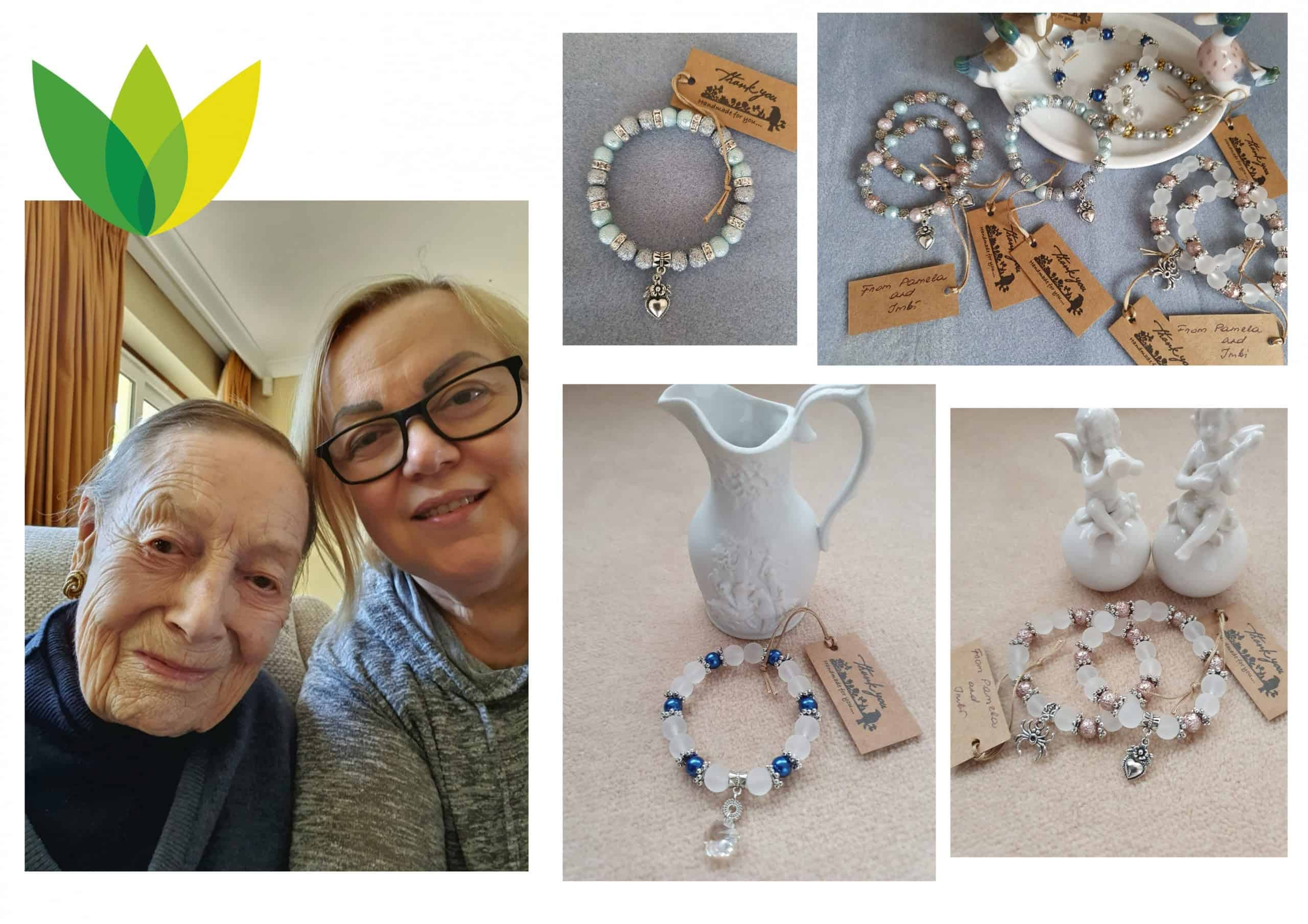 An example of hand made jewellery from the Arts and Crafts Challenge