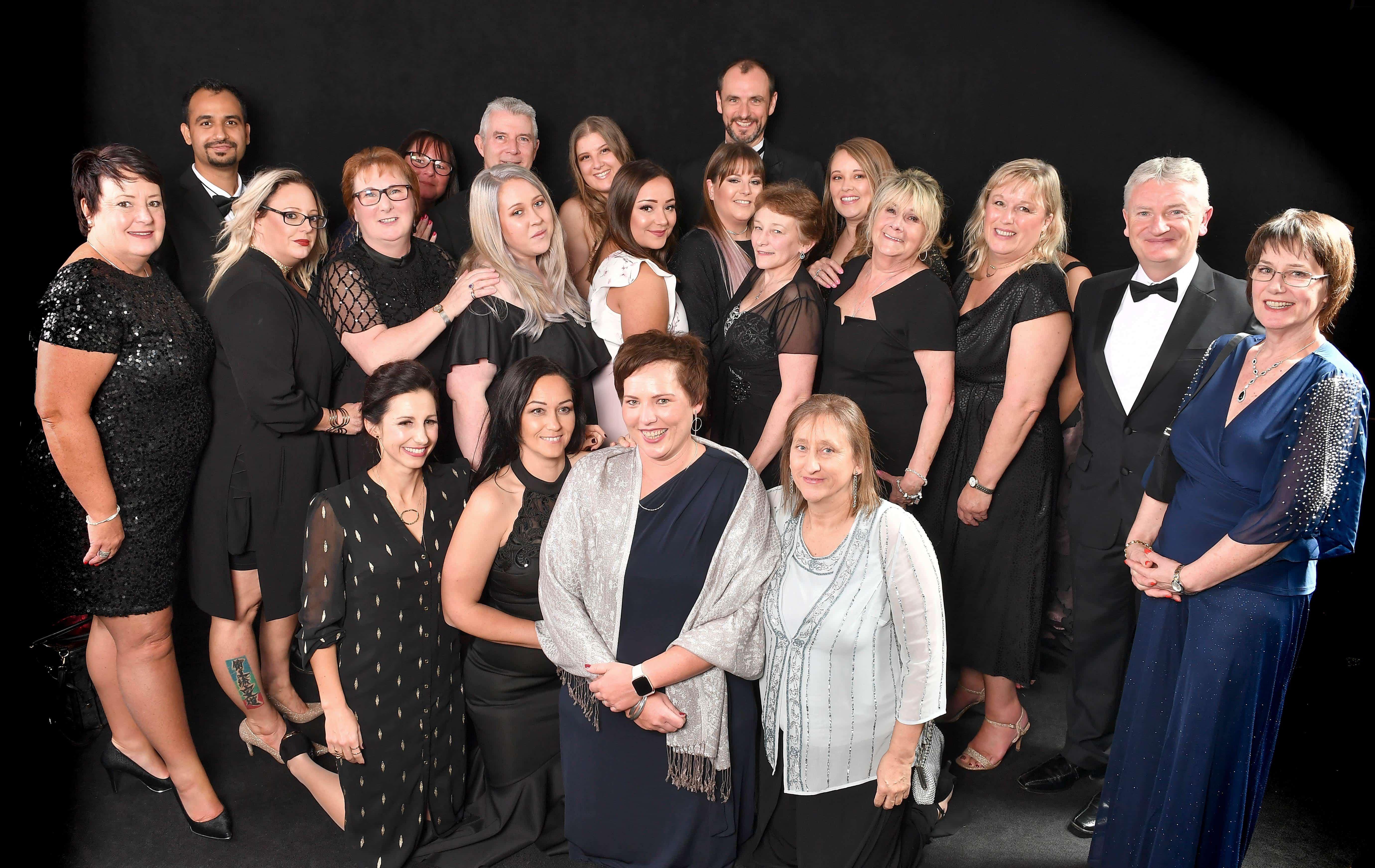 Trinity Homecare full team at the Surrey Care Awards 2019