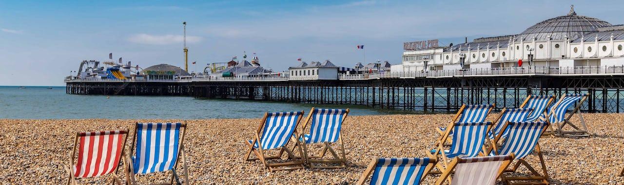Brighton Pier from the cobble beach