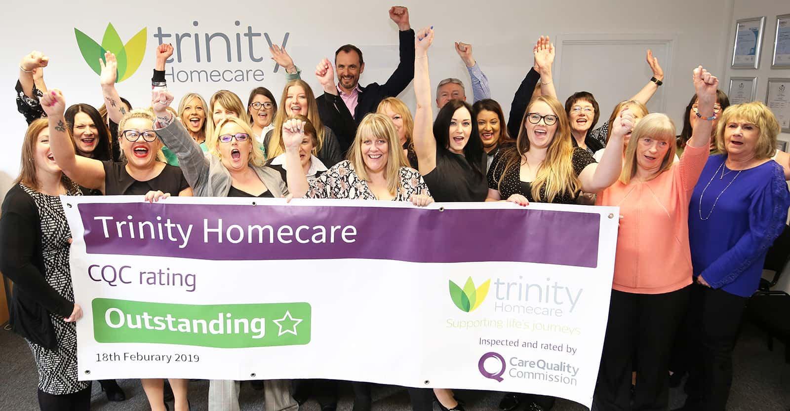 Trinity Homecare Outstanding CQC Rating