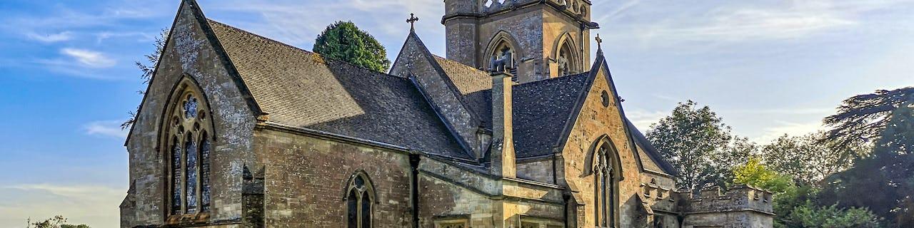 The village of Shipton Moyne, Cotswolds, UK