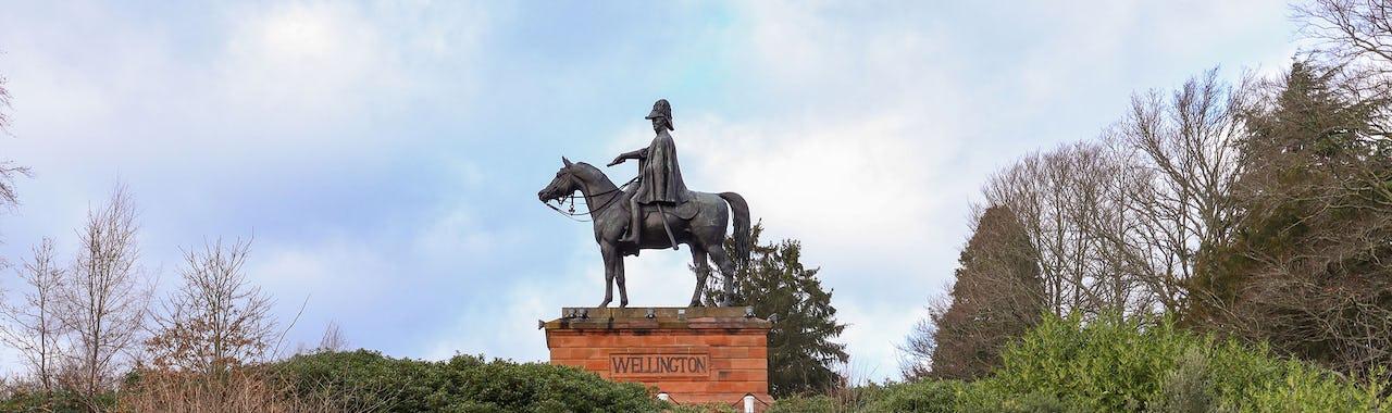 Statue of the Duke of Wellington on Round Hill in Aldershot