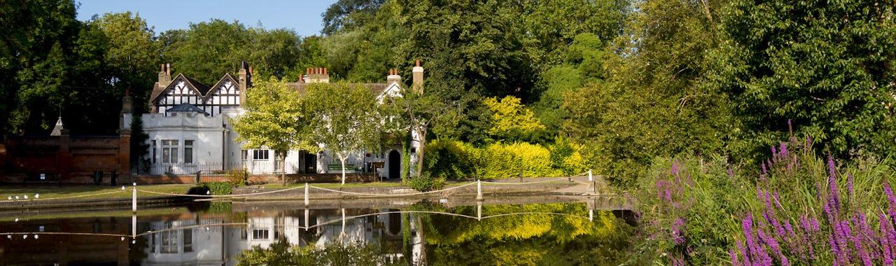 View of Carshalton pond