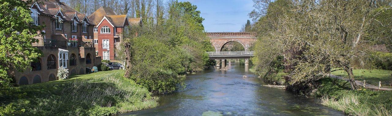 Leatherhead Railway Bridge and the River Mole