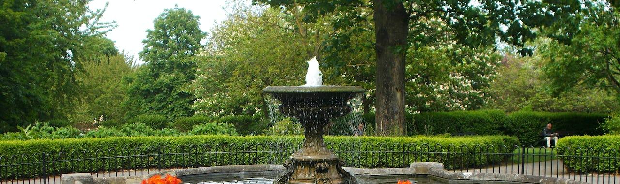 Fountain in Manor Park, Sutton Surrey